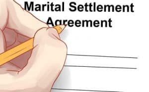 martial settlement agreement San Jose
